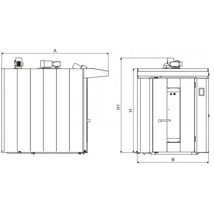 Cuptor rotativ gaz (16/18 tavi 600x800 mm)