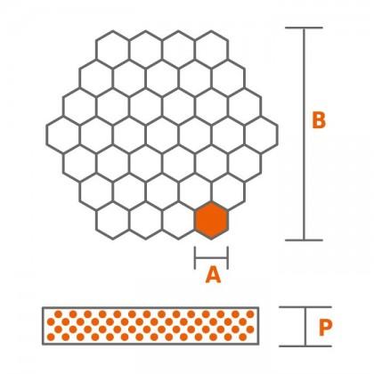 Divizor automat hexagonal 30 la 130 grame