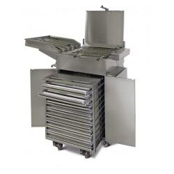 Friteuza profesionala manuala pentru gogosi, cu suport 26 litri