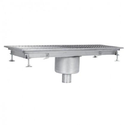 Sifon scurgere pardoseala industrial, cu gura de scurgere centrala-verticala, 200x1850 mm