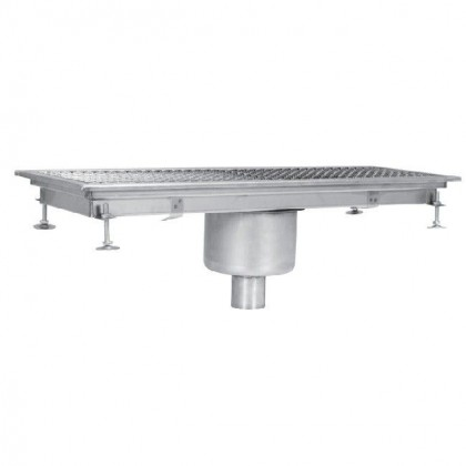 Sifon scurgere pardoseala industrial, cu gura de scurgere centrala-verticala, 400x2300 mm