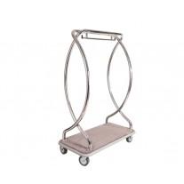Carucior inox transport bagaje, 650x1250x1900 mm