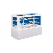 Vitrina rece pentru prajituri alba / 1600x780x1300 mm