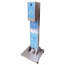 Stand cu dispenser dezinfectant maini cu actionare picior