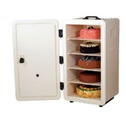 Termobox pentru prajituri, alb