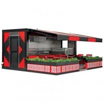 Container dublu, fast food cu terasa - 1